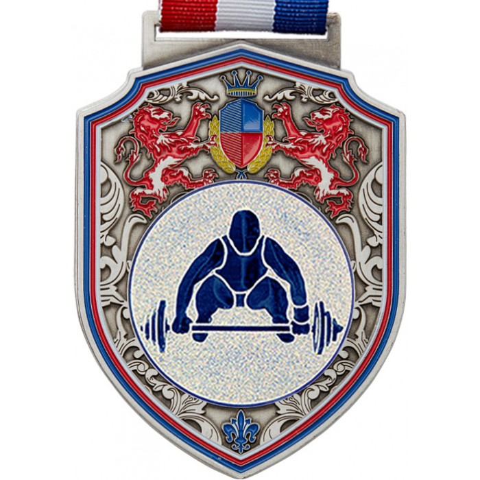 100MM WEIGHTLIFTING MEDAL - REGAL - SILVER