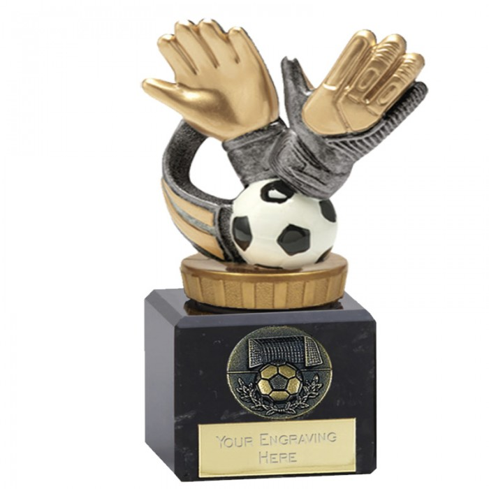 GOALKEEPER GLOVE FOOTBALL TROPHY 4.75""