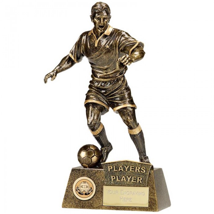 PLAYERS PLAYER FOOTBALL FIGURE RESIN TROPHY 8.75""