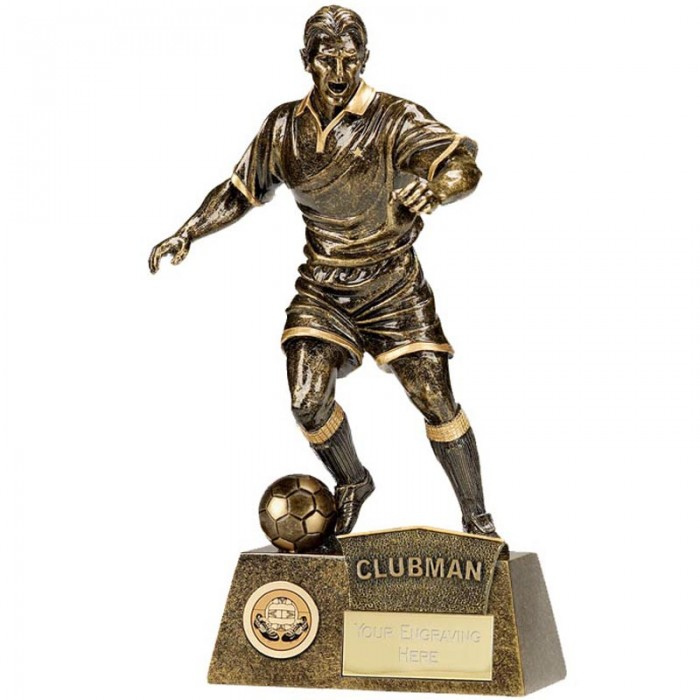 CLUBMAN FOOTBALL FIGURE RESIN TROPHY 8.75""