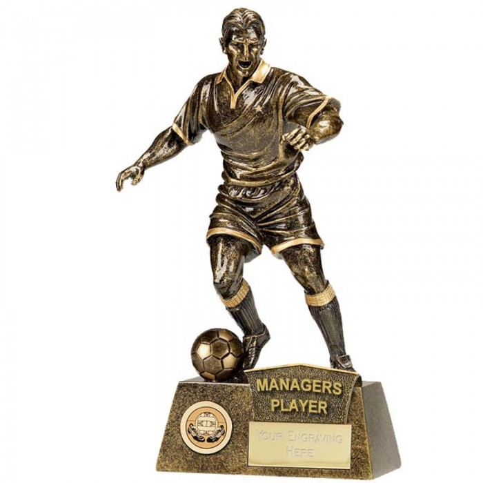 MANAGERS PLAYER FOOTBALL FIGURE RESIN TROPHY 8.75""