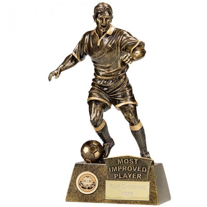 MOST IMPROVED PLAYER FOOTBALL FIGURE RESIN TROPHY      8.75""