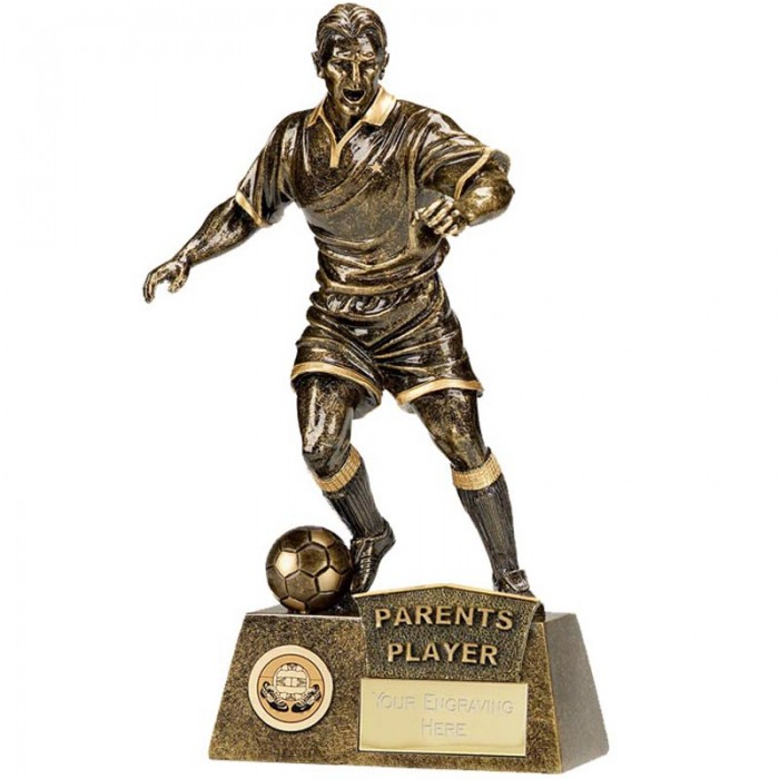 PARENTS PLAYER FOOTBALL FIGURE RESIN TROPHY      8.75""