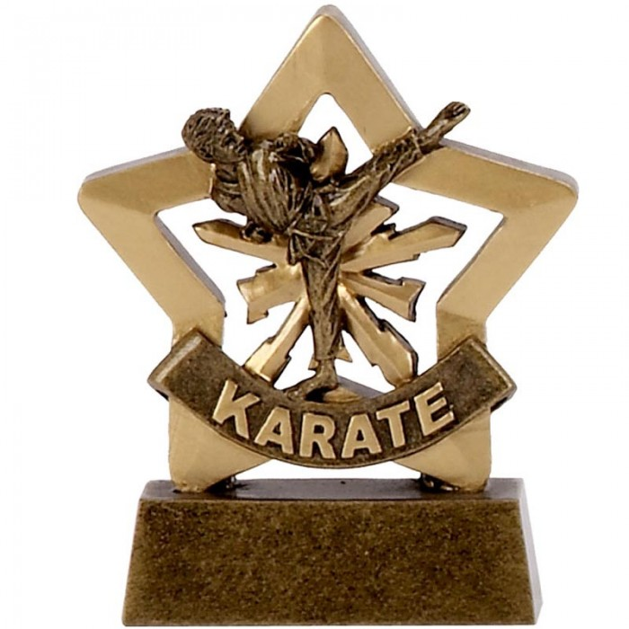 KARATE GOLD MINI STAR RESIN - 3.25''