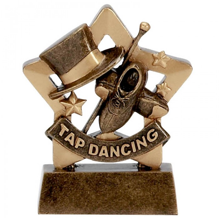 TAP DANCING GOLD MINI STAR RESIN - 3.25''