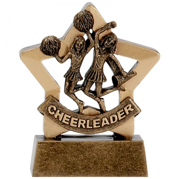 CHEERLEADING GOLD MINI STAR RESIN - 3.25''