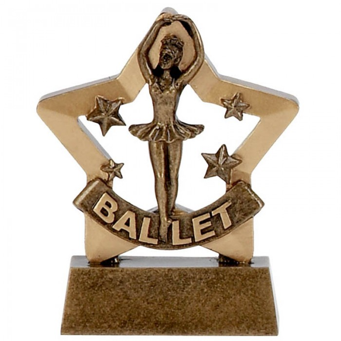 BALLET GOLD MINI STAR RESIN - 3.25''