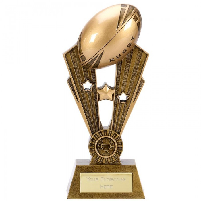 FAME RUGBY TROPHY - 3 SIZES - UP TO 9.5'''