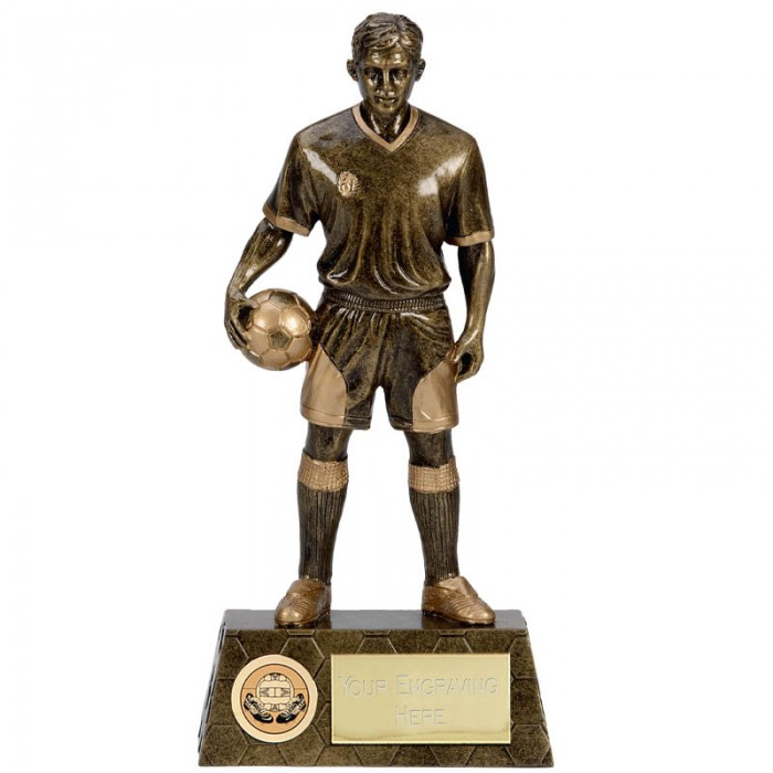 FOOTBALL FIGURE RESIN TROPHY - 10.5''
