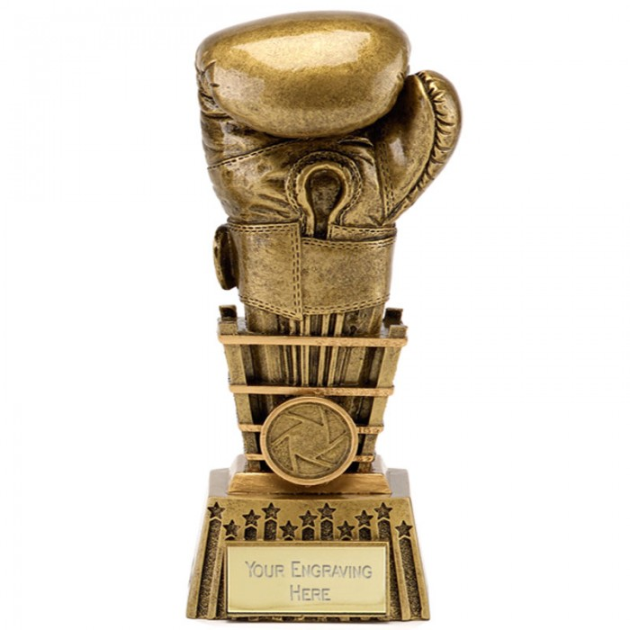 GOLD BOXING GLOVE RESIN TROPHY 4 SIZES STARING FROM 6''