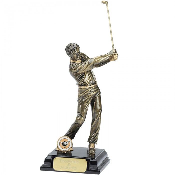 GOLF FIGURE RESIN TROPHY - 9.5''