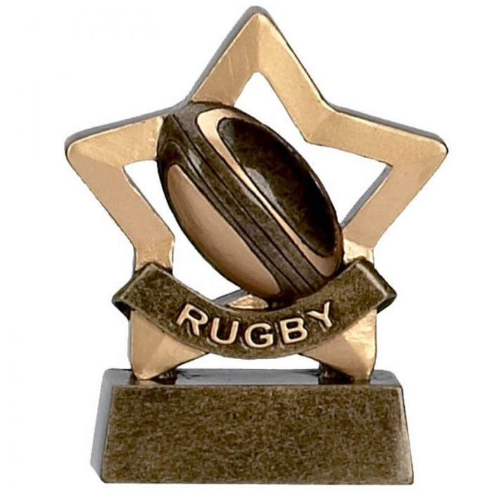 RUGBY GOLD MINI STAR RESIN - 3.25''