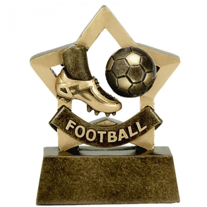 FOOTBALL GOLD MINI STAR RESIN TROPHY - 3.25''