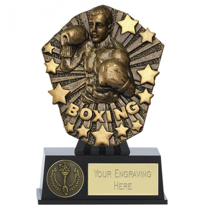 COSMOS MINI BOXING RESIN TROPHY - 4.5''