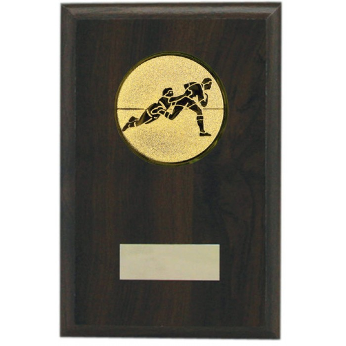 Budget wooden Rugby plaque 6''