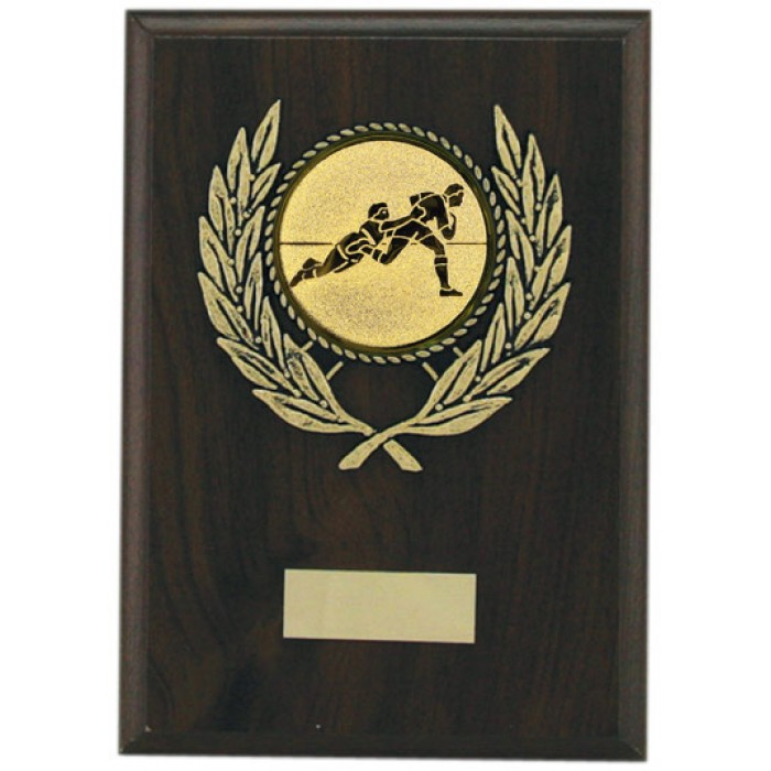 Budget rugby wooden plaque 7''