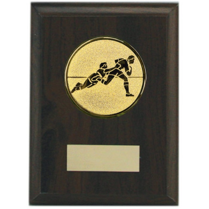 Budget wooden Rugby plaque 5''