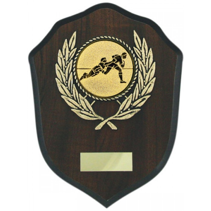 Budget wooden rugby plaque 7''