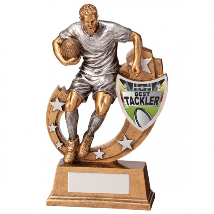 GALAXY - BEST TACKLER - RUGBY AWARD - 5 SIZES - 12.5CM TO 28.5CM