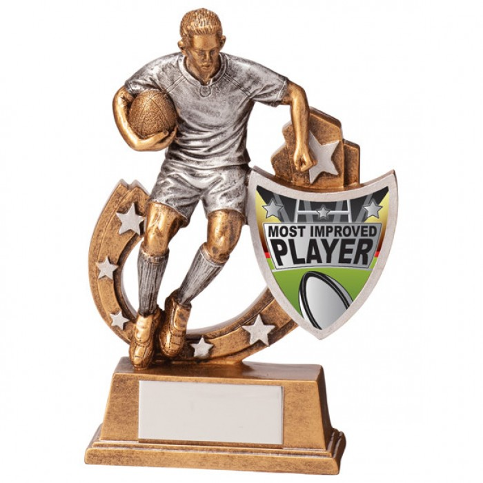 GALAXY - MOST IMPROVED PLAYER - RUGBY AWARD - 5 SIZES - 12.5CM TO 28.5CM