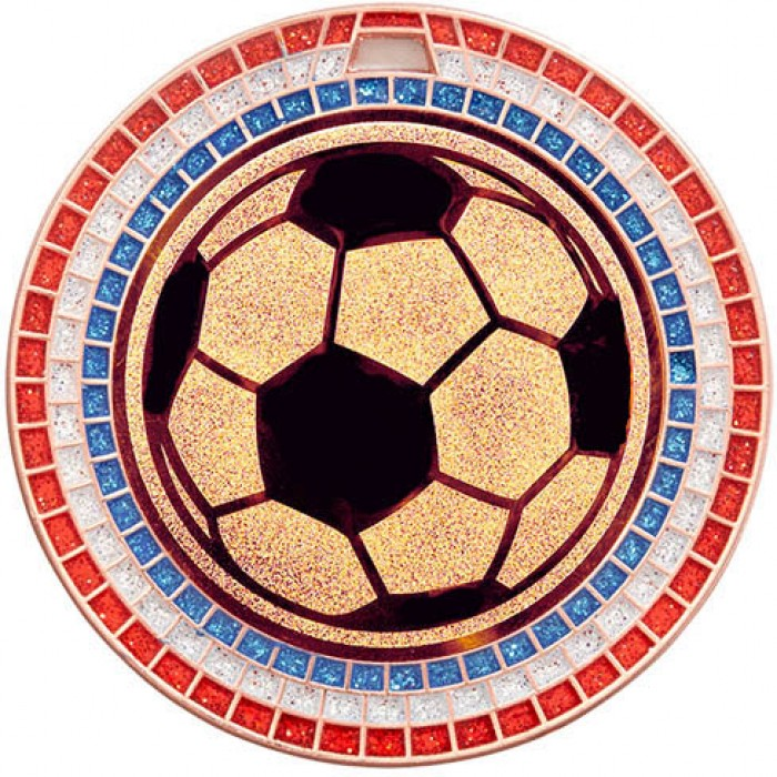 70MM FOOTBALL RWB GEM MEDAL - BRONZE