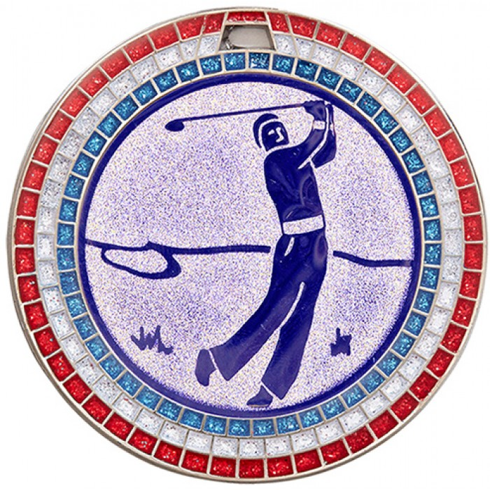 70MM GOLF  GEM MEDAL - SILVER