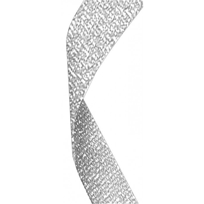 22mm silver glitter ribbon