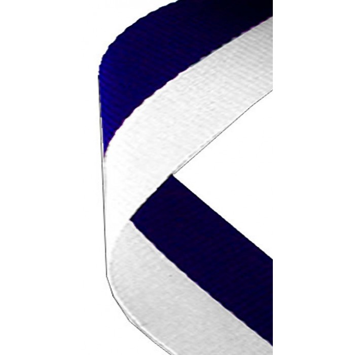 22mm white/blue ribbon