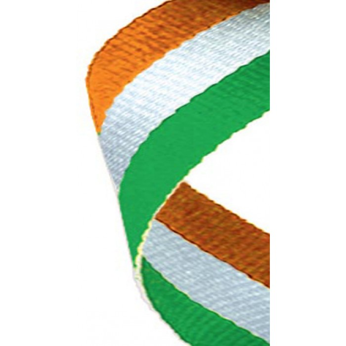 38mm green/white/orange ribbon