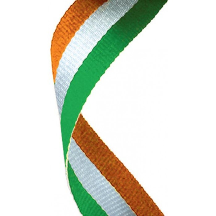 22mm green/white/orange ribbon