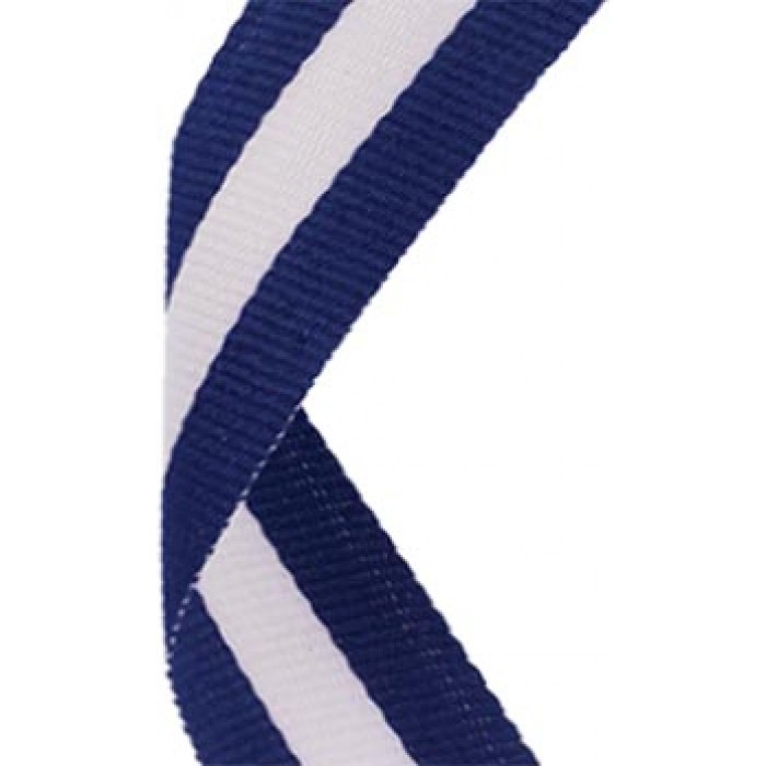 38mm white/blue/white ribbon