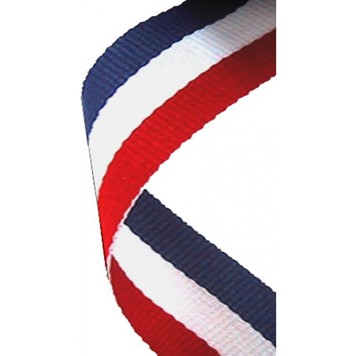 22MM RED/WHITE/BLUE RIBBON