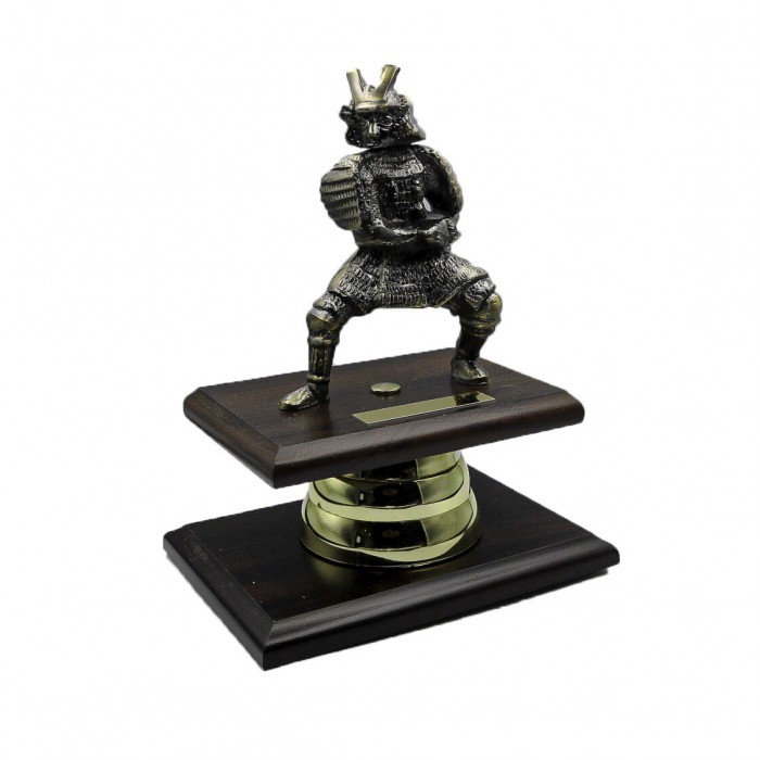 HAND-MADE METAL SAMURAI TROPHY 9''