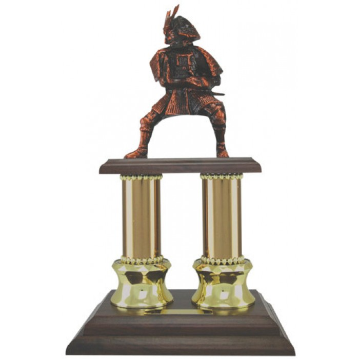 HAND-MADE METAL SAMURAI TROPHY 13''