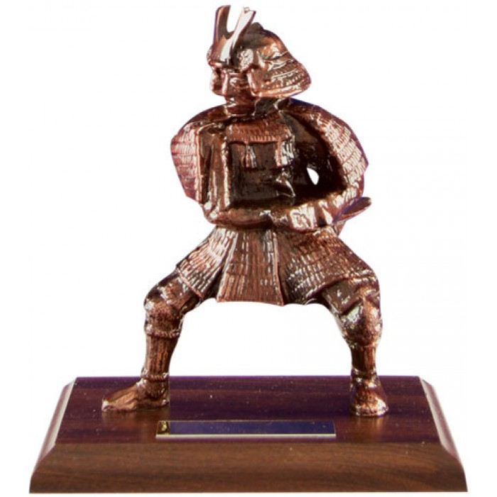 7'' METAL CAST, HAND-MADE PRESTIGIOUS SAMURAI TROPHY