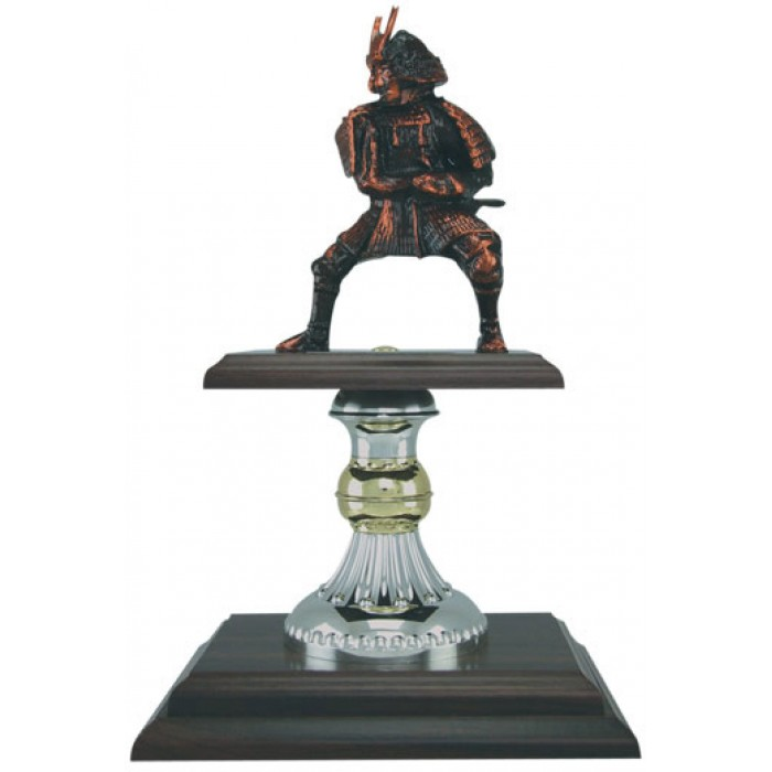 HAND-MADE METAL SAMURAI TROPHY 12''