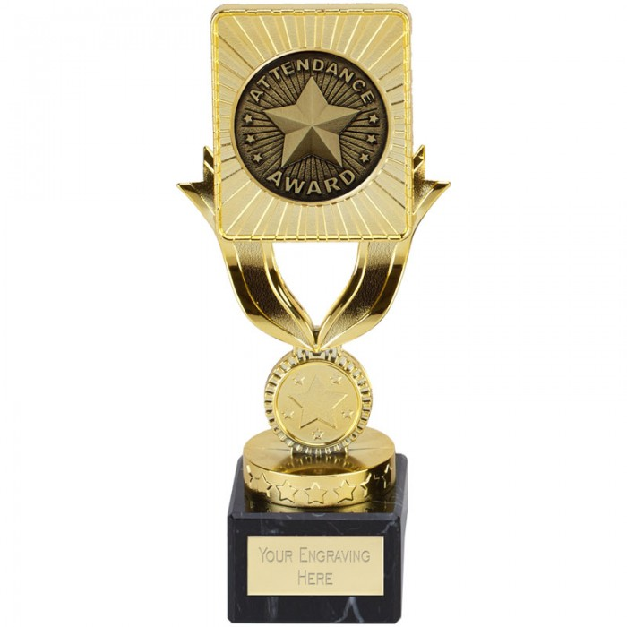 SCHOOL ATTENDANCE AWARD - 7.25'' GOLD