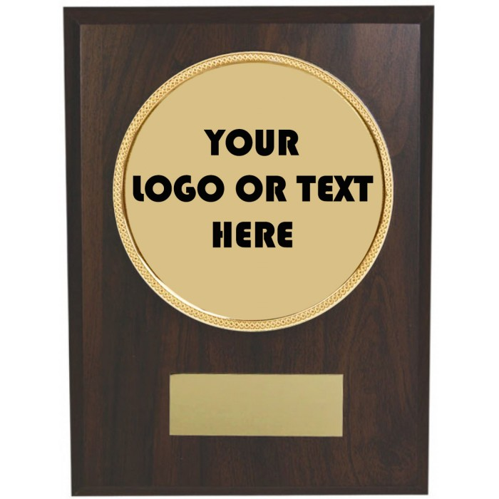 8'' Budget wooden plaque - 110mm custom centre