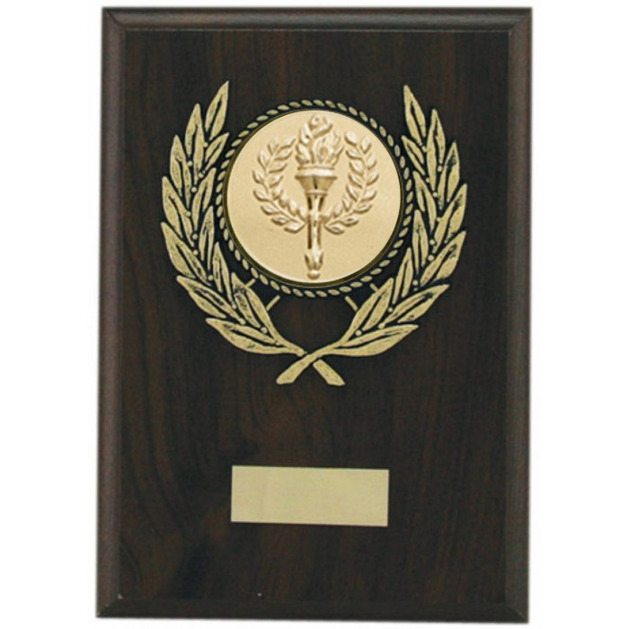 Budget wooden plaque 7'' - choice of sports centre