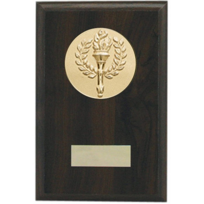 Budget wooden plaque 6'' - choice of sports centre
