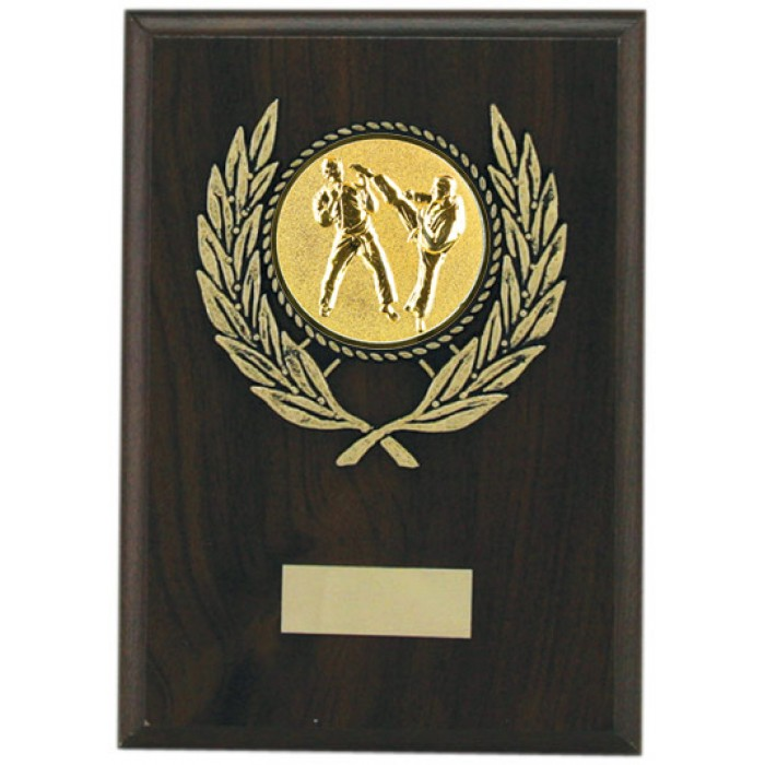 Budget martial arts wooden plaque 7'' - choice of sports centre
