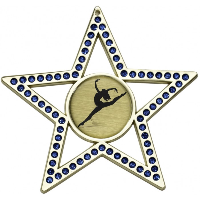 75MM BLUE STAR MEDAL - GOLD, SILVER, BRONZE