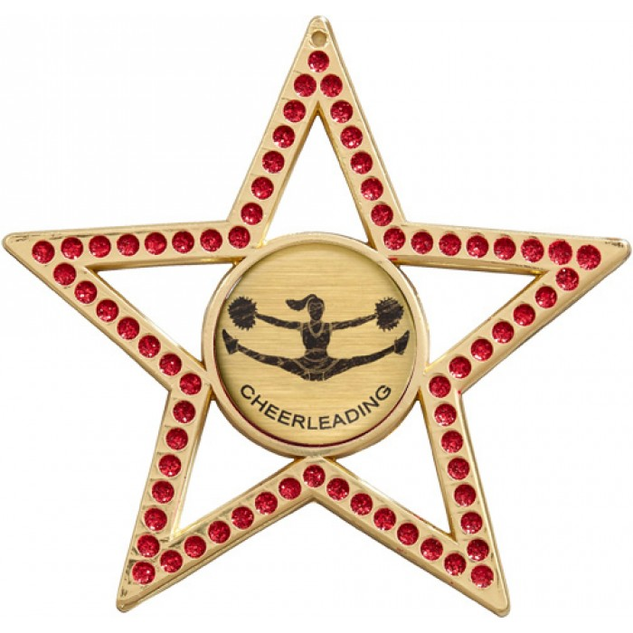 RED STAR MEDAL - 75MM - GOLD, SILVER, BRONZE