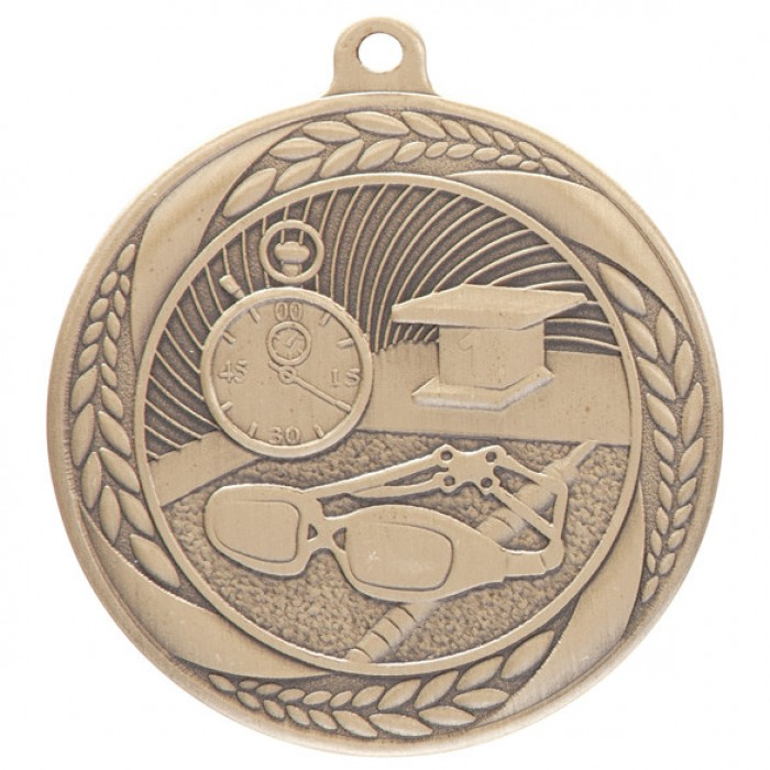 TYPHOON SWIMMING MEDAL - 55MM - GOLD, SILVER & BRONZE