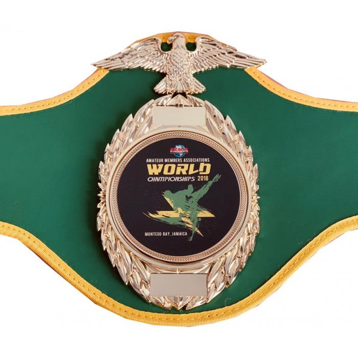 ISKA AMATEUR WORLDS 2018 CHAMPIONSHIP BELT - JAMAICA LIMITED EDITION